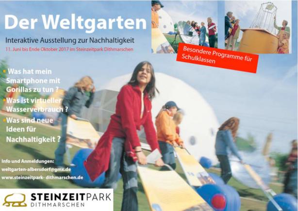 """Titelbild der Ausstellung """"Weltgarten"""""""