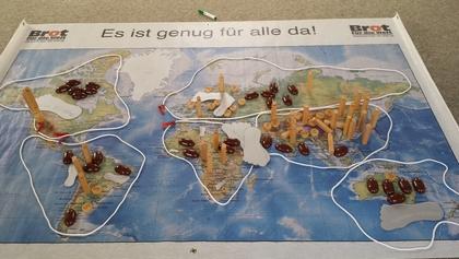 Weltverteilungsspiel - eine Methode unserer Bildungsarbeit