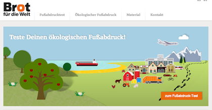 Fussabdruck.de - Ökologischen Fußabdruck online überprüfen